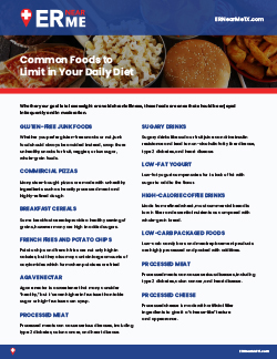 common foods to limit in your daily
