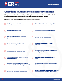 Questions to ask at the ER