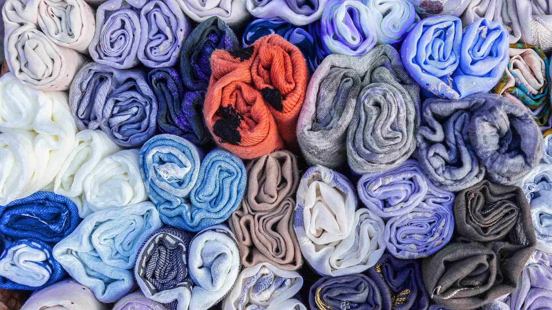 ER Near Me October offer scarf material closeup